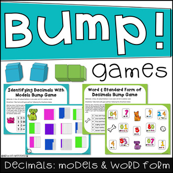 Doggie Decimal Bump Games 2 Separate Games By Kristin Kennedy Tpt