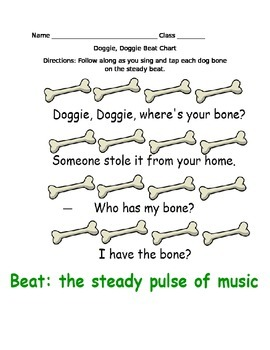 Doggie, Doggie Beat and Rhythm Printables