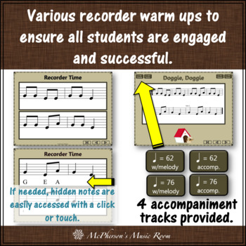 Doggie Doggie - Soprano Recorder Visuals (Notes EGA)