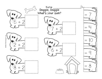 Doggie, Doggie What's Your Sum [Addition Printables]
