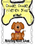 Doggie, Doggie, Where's Your Bone? Number Matching Math Ce