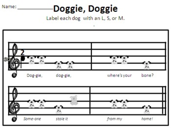 Doggie, Doggie and Red Rover - dog songs for mi so la