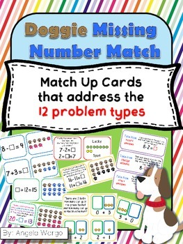 Doggie Missing Number Match for the 12 Problem Types