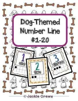 Number Line with Ten Frames (Doggie Themed)