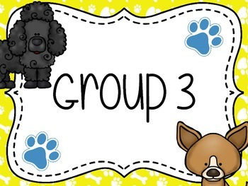 Doggie Themed Group/Table Signs