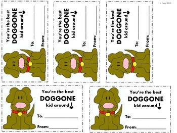 Doggone Valentine Card Freebie