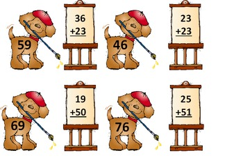 Doggy 2-Digit Addition with and without Regrouping