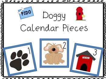 Doggy Calendar pieces