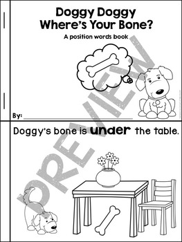 Position Word Book - Doggy Doggy Where's Your Bone?