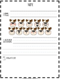 Doggy Emotions / Feelings Chart and Worksheets FULL COLOR