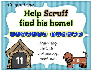 Doggy and Dog House Missing Number