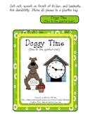 Doggy Time! - Time to the quarter-hour - File Folder Game