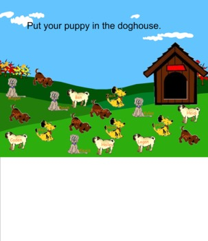 Doghouse and tree Smart Board Attendance