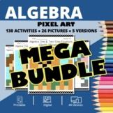 Dogs Algebra BUNDLE: Math Pixel Art Activities