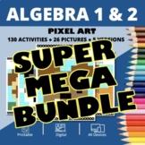 Dogs Algebra SUPER MEGA BUNDLE: Math Pixel Art Activities