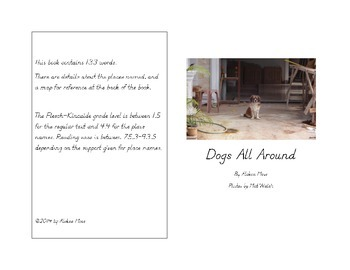 """""""Dogs All Around"""" Easy Reader"""
