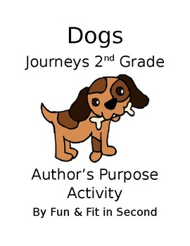 Dogs Author's Purpose Activity