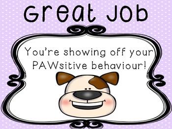 Dogs Behaviour Management Chart