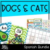 Dogs & Cats Classroom Decor BUNDLE (SPANISH)