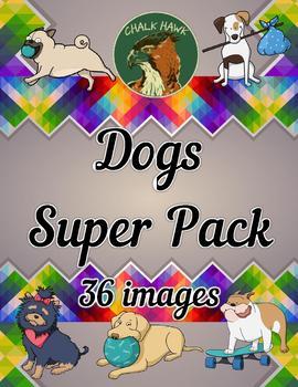 Dogs Clip Art SUPER PACK