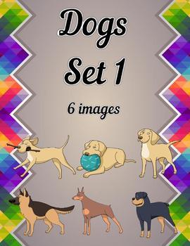 Dogs Clip Art Set 1