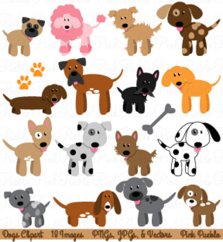 Dogs Clipart and Vectors