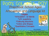Dog's Colorful Day Preschool/ Lower School Aged Articulation and Language Packet