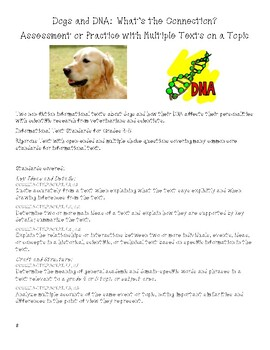 Dogs & DNA~Comparing Multiple Informational Texts for Main Ideas, Viewpoints 4&5