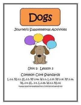 Dogs---Journey's Supplemental Activities-2nd Grade