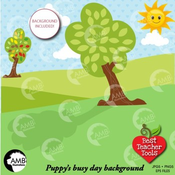 Dog Clipart, Puppy Dog Clip Art, {Best Teacher Tools} AMB-595