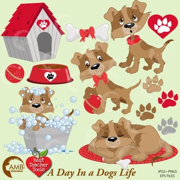 Dogs Clipart, Dog Clip art, Puppy Clipart, Animal Clipart,