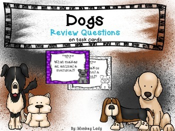 Dogs Review Task Cards for Houghton Mifflin Journeys