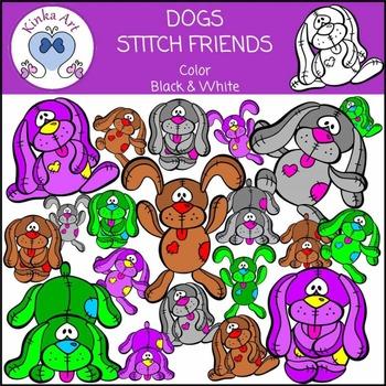 Dogs - Stitch Friends Clip Art