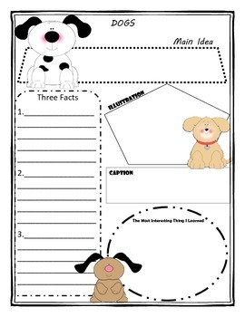 Dogs Story Map Graphic Organizer