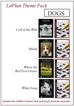 Dogs Theme Pack Novel Unit Bundle
