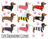 Dogs and Dachshund Clip Art