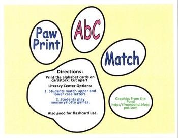 Dogs and Paws Alphabet Center