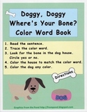 Dogs and Paws Color Word Emergent Reader