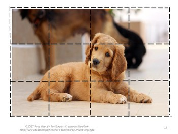 Dogs and Puppies Cut and Paste Puzzles Preschool Kindergarten Special Education