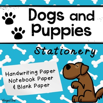 Dogs and Puppies Writing Paper