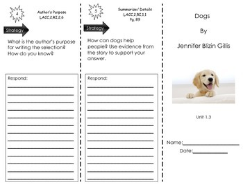 Dogs- by Jennifer Blizin Gillis - Journeys Common Core - Houghton Mifflin