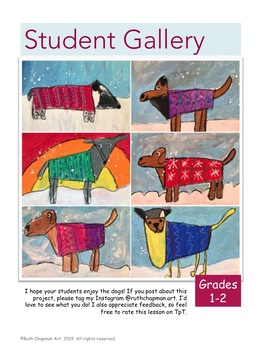 Dogs in Sweaters: Art Lesson for Grades K-4
