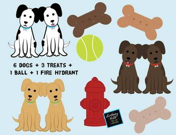 Dogs in the City {Clip Art Set}