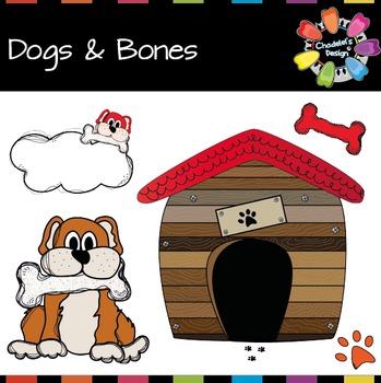 Dogs, Kennels & Bones Clips