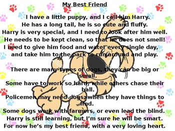 Dogs poem and inference