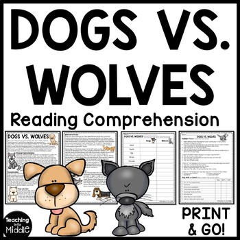 Dogs vs. Wolves Compare and Contrast Reading Comprehension  Call of the Wild