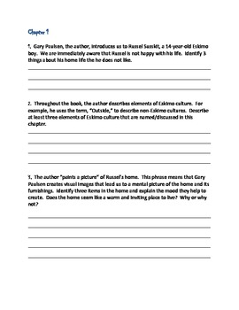 Dogsong: novel-ties study guide: gary paulsen: 9780767520911.