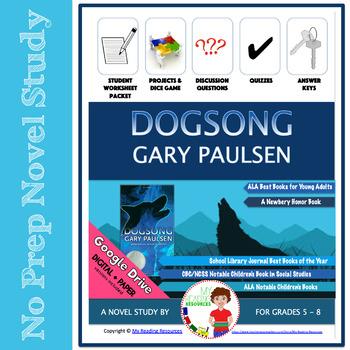 Dogsong by Gary Paulsen Novel Study Unit