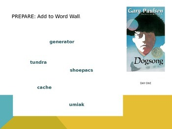 Dogsong by Gary Paulsen: Daily Reading Structure for Lit Circle