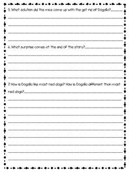 Dogzilla by Dav Pilkey Comprehension Questions